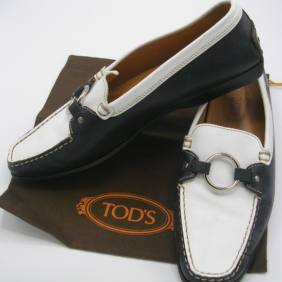 Tod's Shoes - Tod's Gommini Driving Loafers-Two Tone Leather